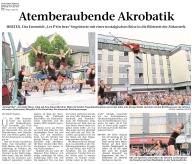 Atemberaubende Akrobatik